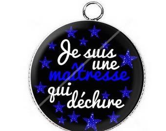Cabochon pendant for a teacher that rocks 13