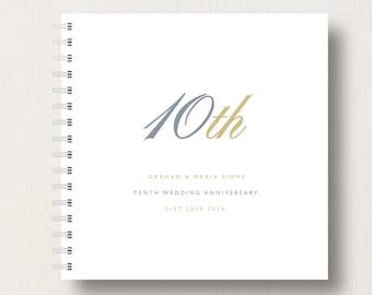 Personalised 10th Anniversary Memories Book or Album
