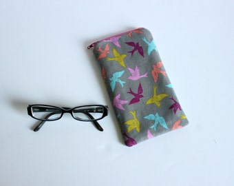 Bird Eyeglass Sunglass Holder | Padded Eyeglass Case | Sunglass Case | Reading Glass Case | Eyewear Case | Sunglass Holder | Gift for Her
