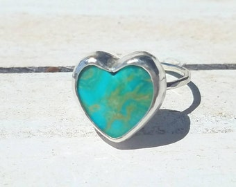 Turquoise heart ring Size 6.25