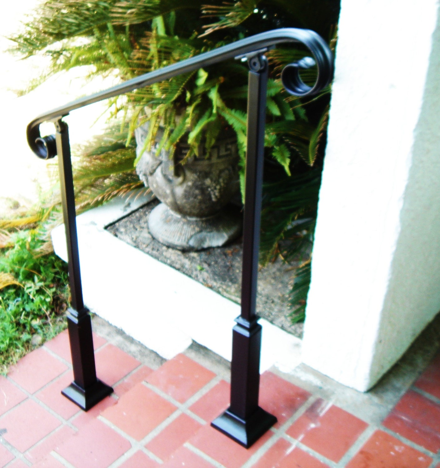 4 FT Wrought Iron Handrail Step rail Stair rail with