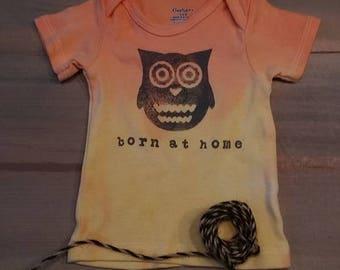3-6m born at home t shirt