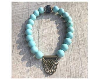 Turquoise Tribal Love Bead Bracelet