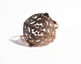 rose gold upper arm bracelet, upper bracelet, arm cuff bracelet, bohemian bracelet, rose arm band - rose gold arm bangle