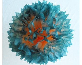 Teal Party Decorations, Teal Wedding Decoration, Tissue Paper Pom Pom, Teal Birthday Party, Teal Peach Party, Teal Paper Pom pom