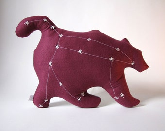 Ursa Major Glow in the Dark Constellation Pillow in Pomegranate