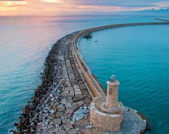 Mediterranean Lighthouse - Fine Art Print
