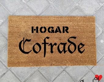 """""""Colleague's home"""" doormat"""