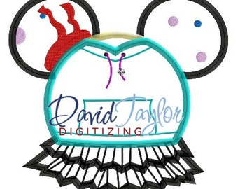 Mickey head - Wreck it Ralph - Vanellope - Embroidery Machine Design - Applique - Instant Download - David Taylor Digitizing