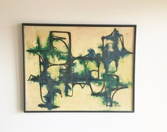Mid Century Modern Abstract Painting c.1964