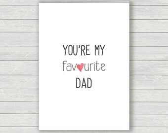 Dad Card, Fathers day card, humorous card