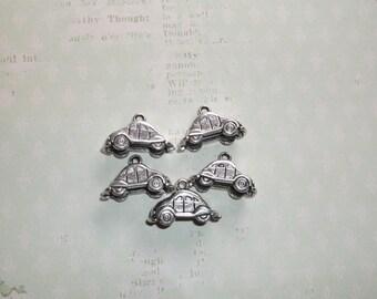 car charm vw charm silver vw charm 3D car charm 5 pcs 23x14 mm