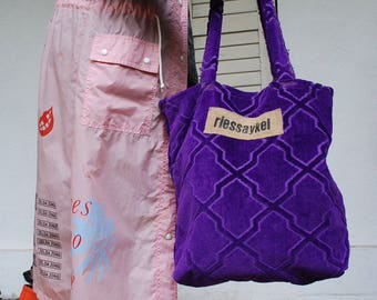 "Huge shopping bag ""Lila"" is a unique piece of used materials-Ökoeffektivität"