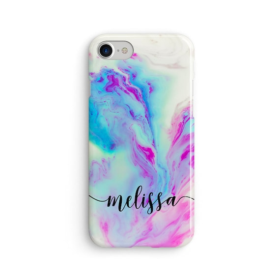 Custom name mermaid marble  iPhone X case - iPhone 8 case - Samsung Galaxy S8 case - iPhone 7 case - Tough case 1P076