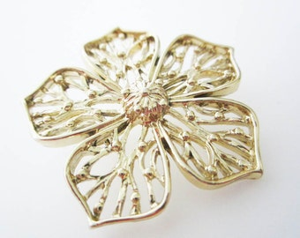 Gerrys Gold Cut Out Flower Vintage Brooch