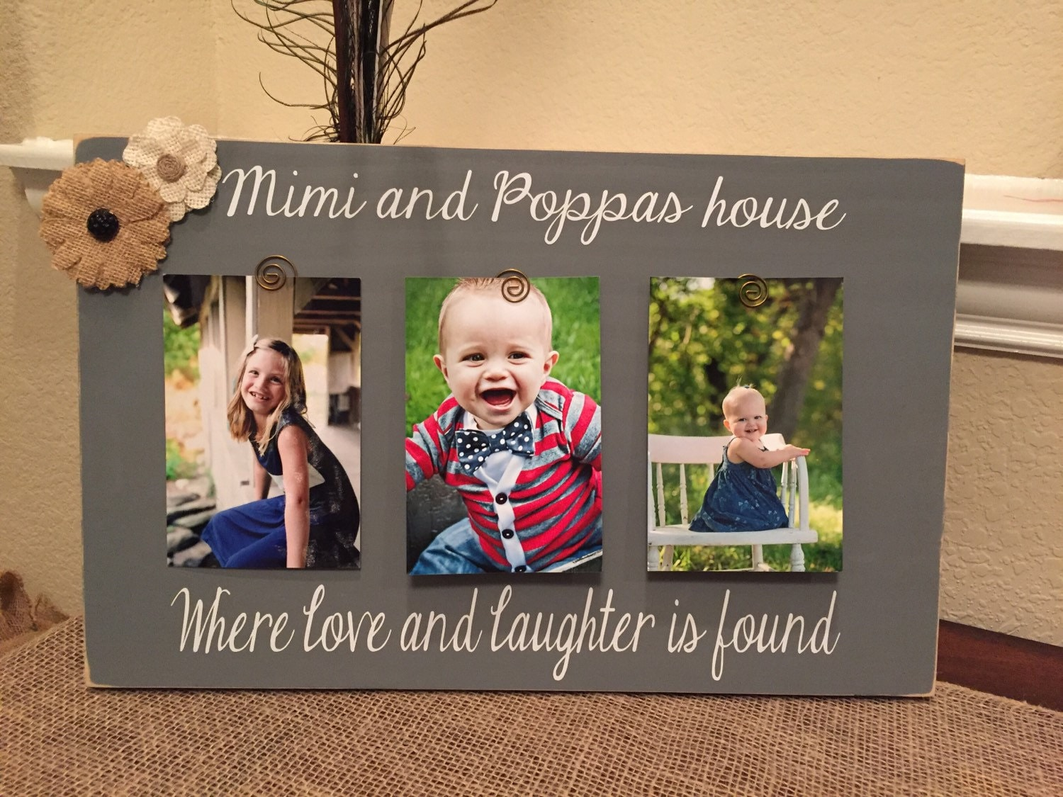 Christmas Gift For Mimi Papa Grandparents 4x6 Picture Frame