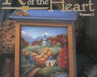"""Folk Art 1999 Decorative book """"  Reflections Of The Heart"""" by Carol Bond CDA 30 pages used book"""