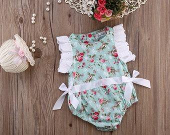 Brand New: Lace Floral Romper Bodysuit