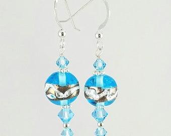 SALE! Aqua Blue Earrings