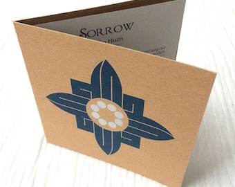 Condolences Luxury Card Letterpress with Silver Accents, Contemporary Arabic Calligraphy