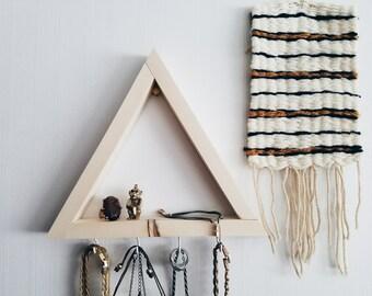 Holz Schmuck Display / Schmuckhalter Kette Halter Halskette Display, Dreieck Regal, Schlüsselhalter, hängenden Kette Halter, Schlüsselhaken