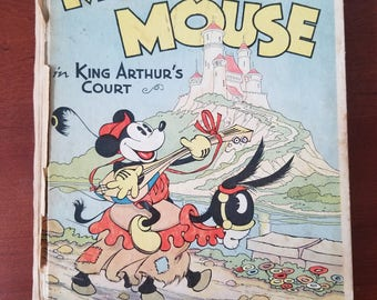 Vintage Walt Disney Mickey Mouse in King Arthur's Court Pop Up Book (1933)