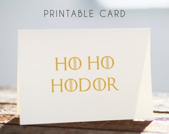 hodor printable christmas card, hodor christmas card, hodor printable card, hodor card, game of thrones card