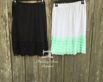 SKIRT EXTENDER | modest skirt | DRESS extender | modest dress | long skirt | 24 inches long | add length | long dress | ruffle skirt extende