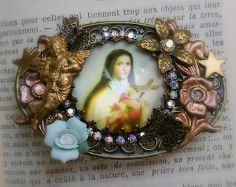 """Broche retro """"Sainte Thérèse de l'enfant Jesus """""""