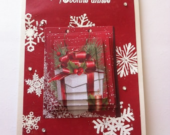 """""""Merry Christmas and happy new year"""" card 3D gift"""