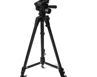 Vintage Telescopic Camera Tripod / Photography Camera Video Equipment With Carrying Bag/ 3/16 inch  Screw Mount