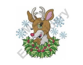 Reindeer - Machine Embroidery Design, Christmas Reindeer