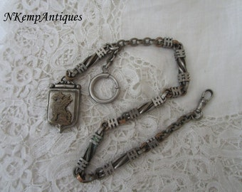 Antique watch chain and fob 1900 for the collector