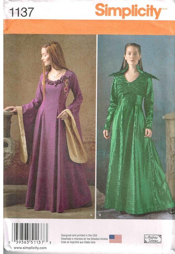 Fantasie-Kostüm Kleid Schnittmuster wie Game of Thrones mit Glocke ...