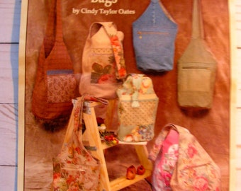 Taylor Made Bags by Cindy Taylor Oates TA-20 | LG & SM Crossbody Bags for Everyday Use! | uncut factory folded complete sewing pattern
