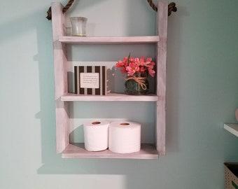 Farmhouse ladder shelf