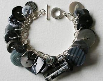 Button Bracelet Rainy Days and Mondays
