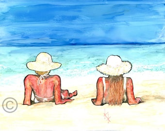 Two Ladies by the Sea