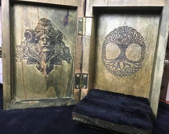 Green Man / Tree of Life Portable Travel Altar Box