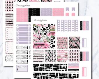 Fashion Lover Printable Vertical Erin Condren Planner Stickers Kikki K Personal