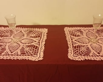 Large Square Pineapple Doilies