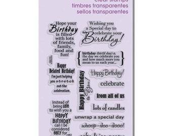 Stampendous BIRTHDAY WISH Clear Acrylic Stamp Set Happy Birthday celebrate 1 - CS065