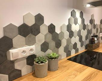 Concrete Hexagon Tiles