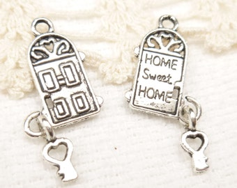 Door with Dangling Key Charm, Home Sweet Home (6) - S117