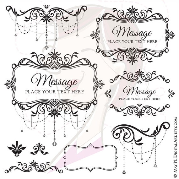 Ornate frames vintage wedding decoration old style vector clipart ornate frames vintage wedding decoration old style vector clipart chandelier business flourish swirls retro foliage diy invitations 10033 from junglespirit Gallery