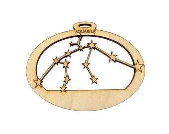 Aquarius Constellation Ornament - Zodiac Gift for Aquarius - Aquarius Gifts - Aquarius Star Sign Gift - Personalized Free