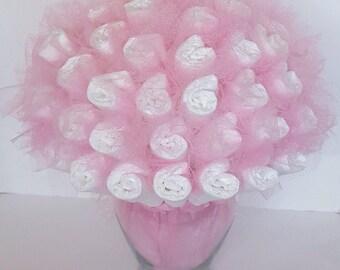 Diaper bouquet - baby shower centerpiece - baby shower gift - baby shower decorations - new baby gift - new mom gift - baby shower ideas