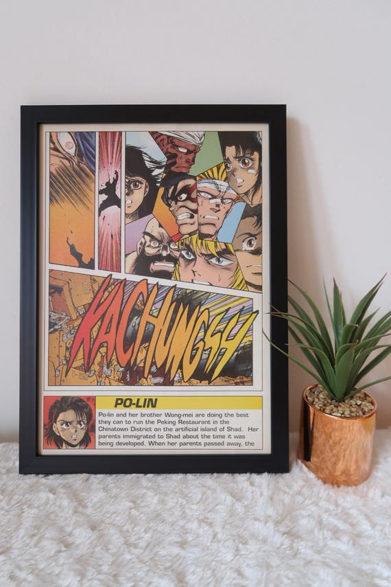 Ryu Chun Li Retro Frame Street Fighter Poster Framed Comic