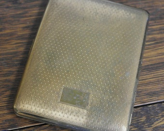 vintage toled brass cigarette case