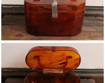 1940s purse // Amber Light Handbag // vintage 40s purse